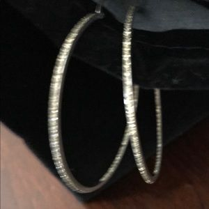 Beautiful Diamond Hoops in White Gold